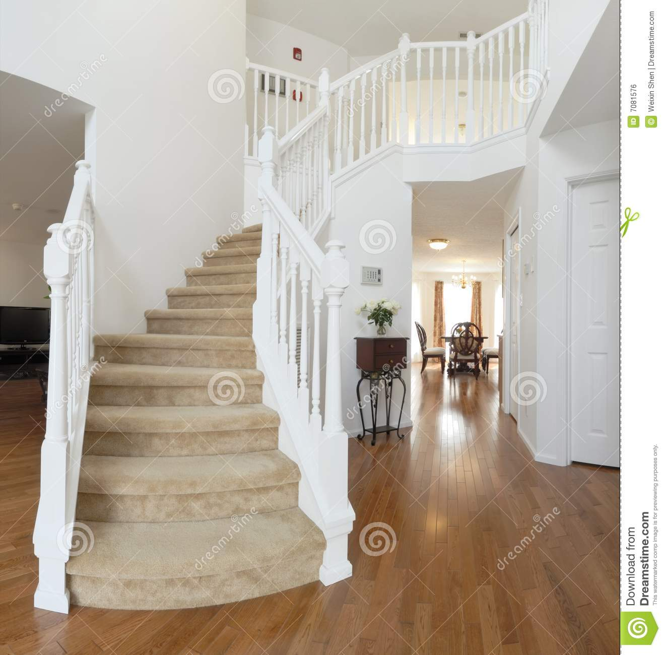 Home Interior, Staircase Royalty Free Stock Image - Image ...