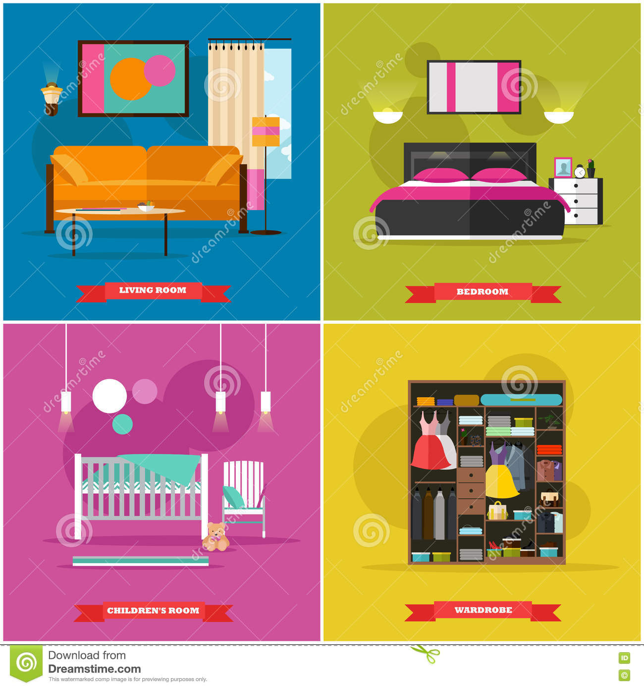 Sofa Icon In Flat And Cartoon Style Vector Illustration 86000088