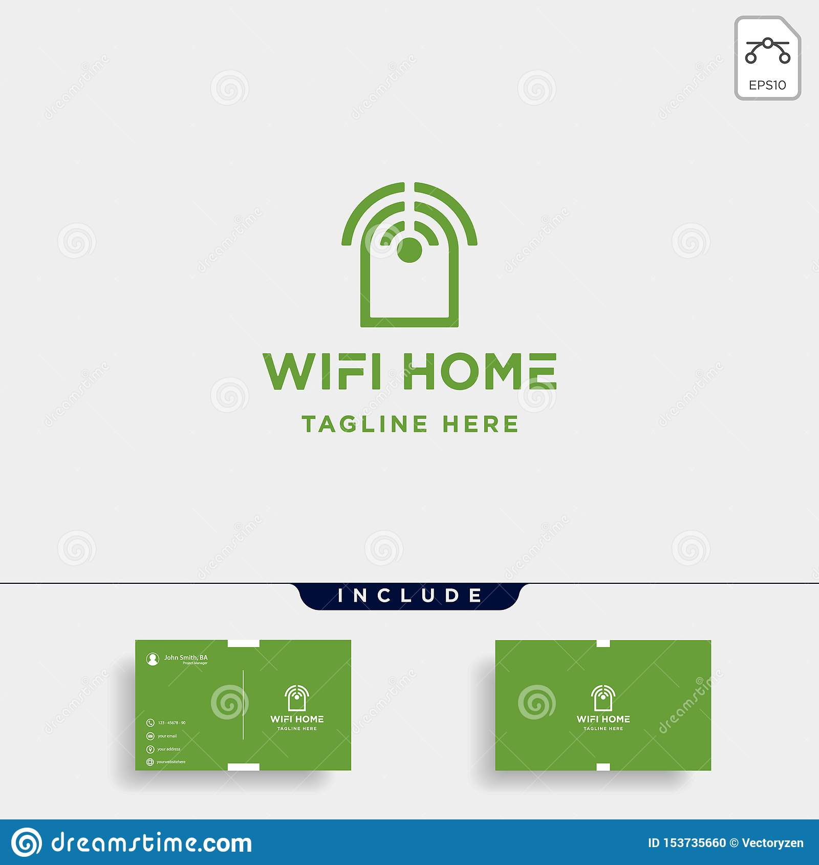 Home Internet Logo Design Vector Wifi House Icon Siymbol