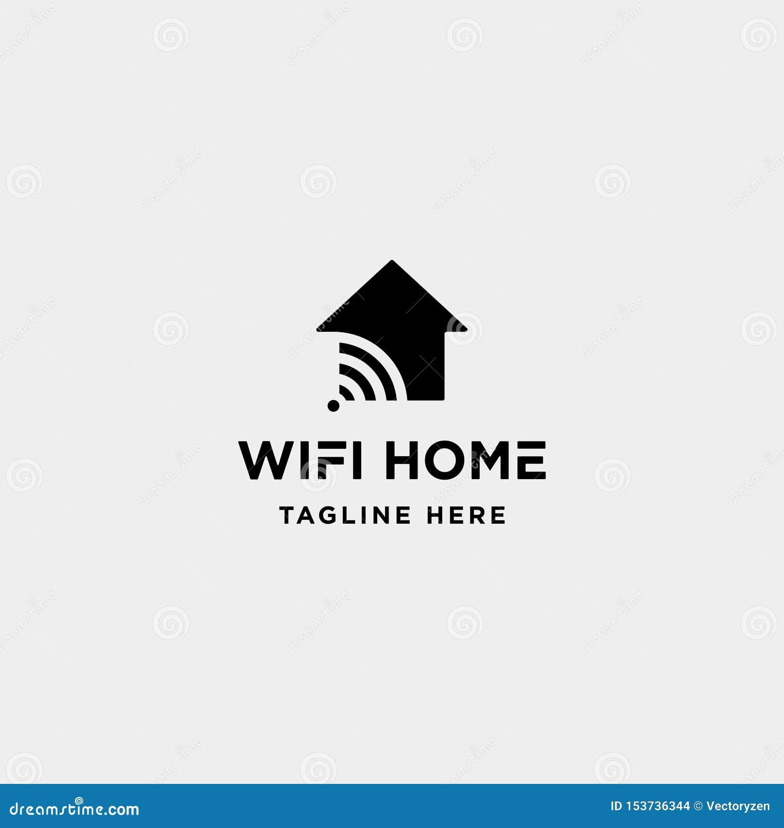Home Internet Logo Design Vector Wifi House Icon Siymbol Sign Stock Vector Illustration Of Wifi Logo 153736344