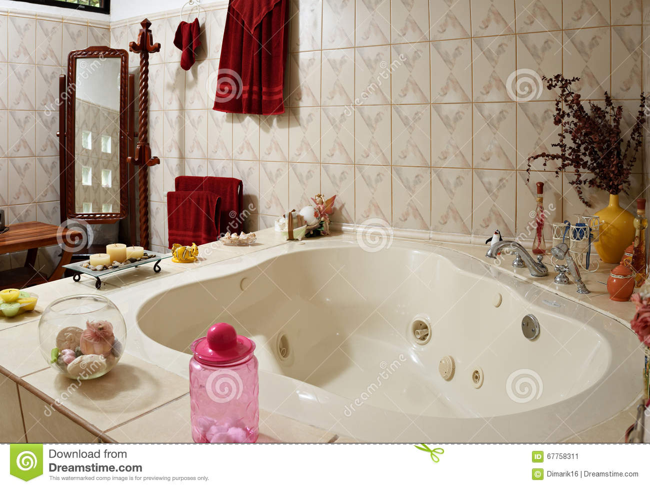 Home jacuzzi bath stock image. Image of whirlpool, bath - 67758311
