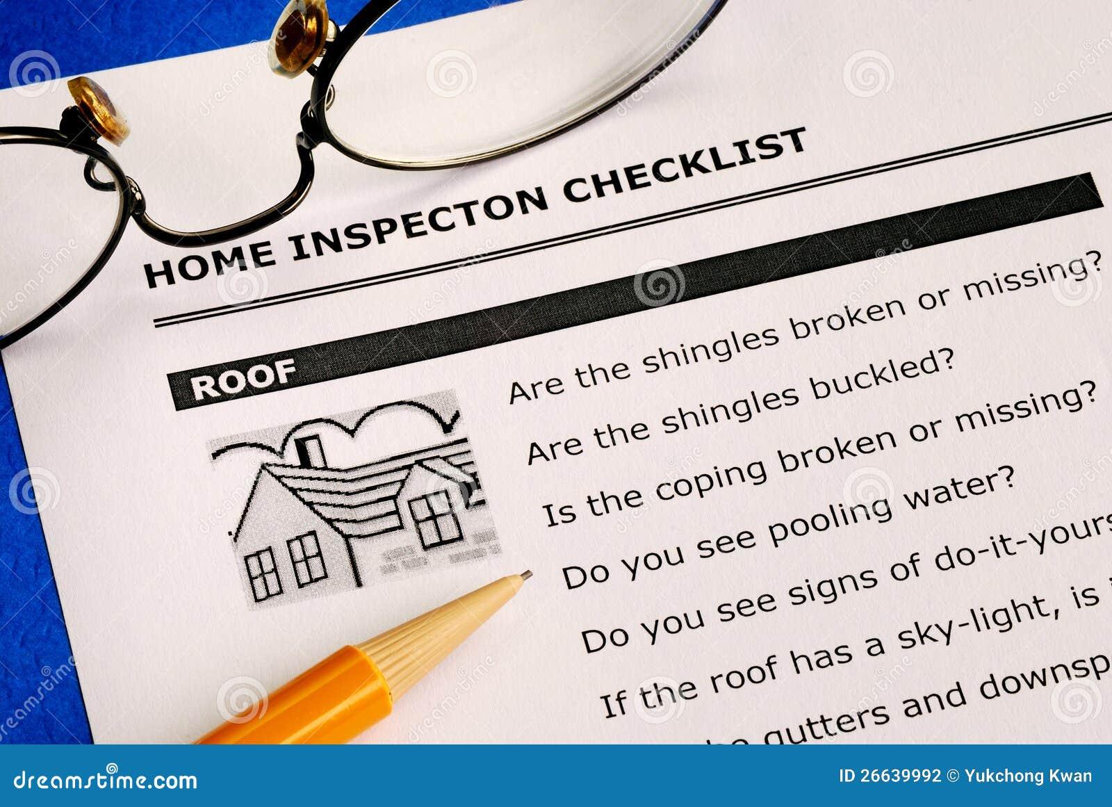 Home kontrollkontrollista för fastighet