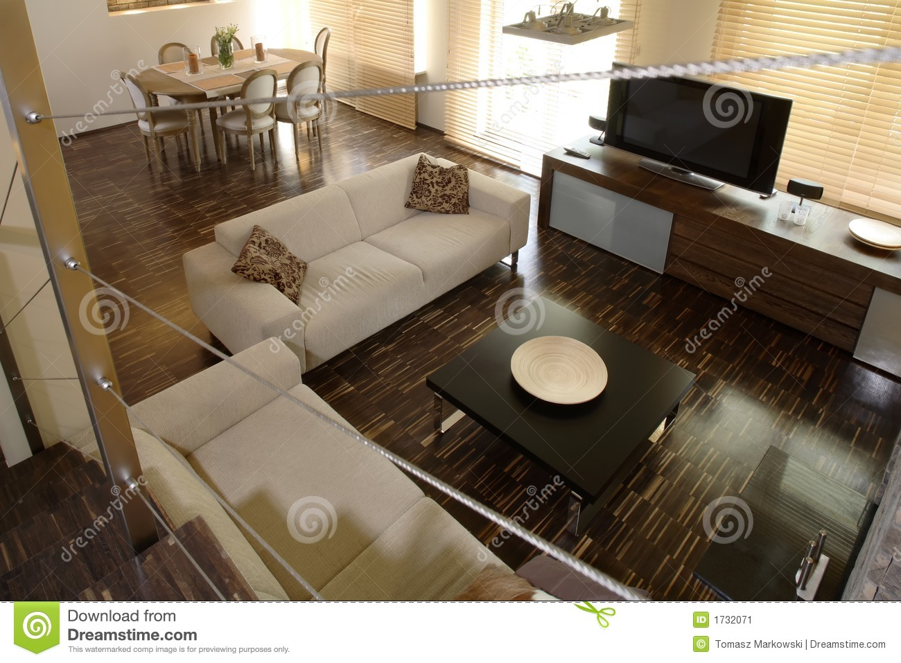 Living And Dining Room Home Living And Dining Room Stock Image Image 1732071
