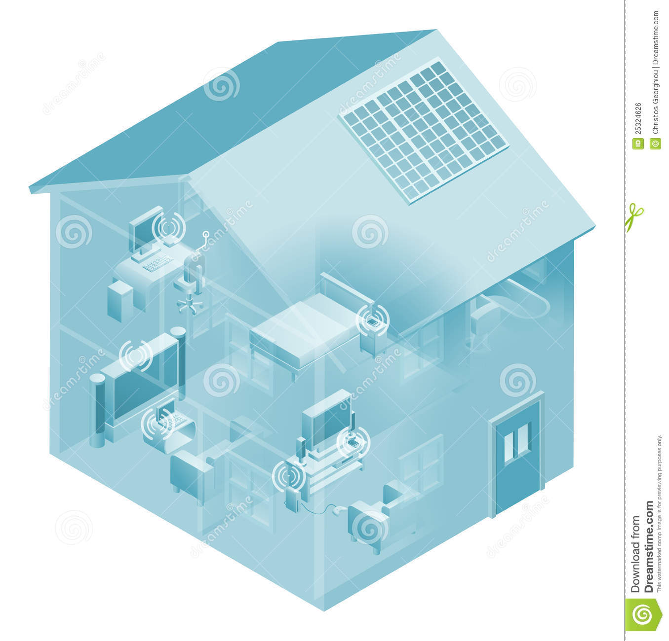 Home Local Area Network House Stock Vector - Illustration of ...