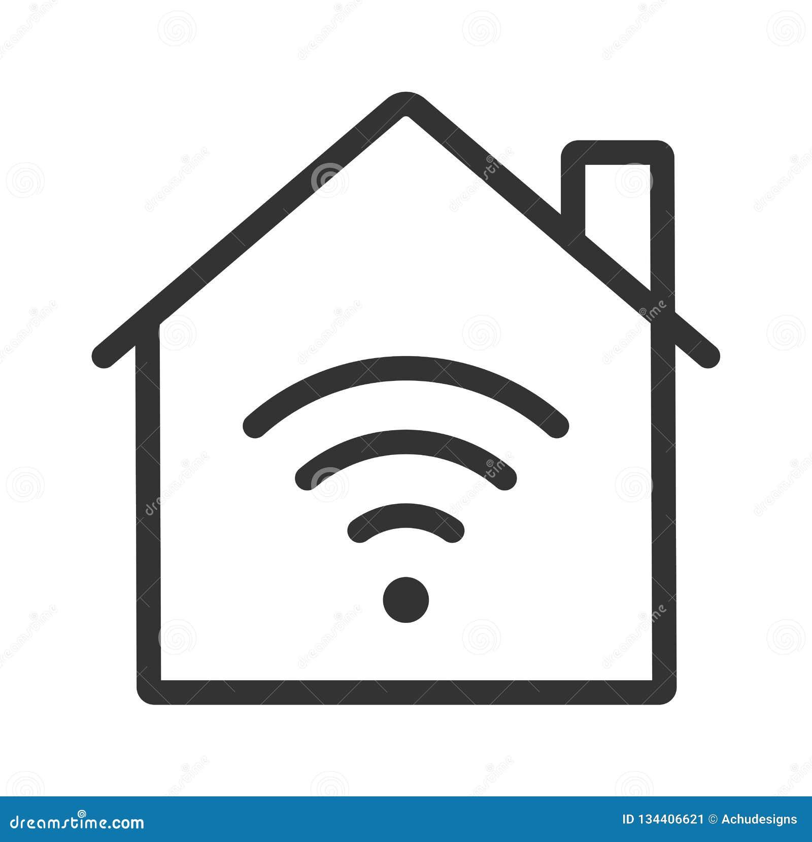 Home wifi icon. smart home