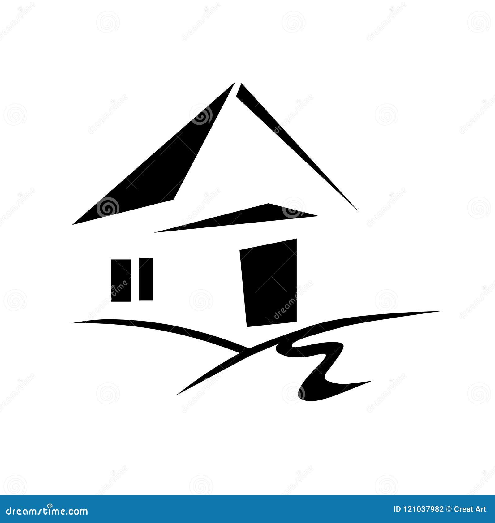 Home Logo Icon Vector House Logo Stock Vector Illustration Of Vector Logo 121037982