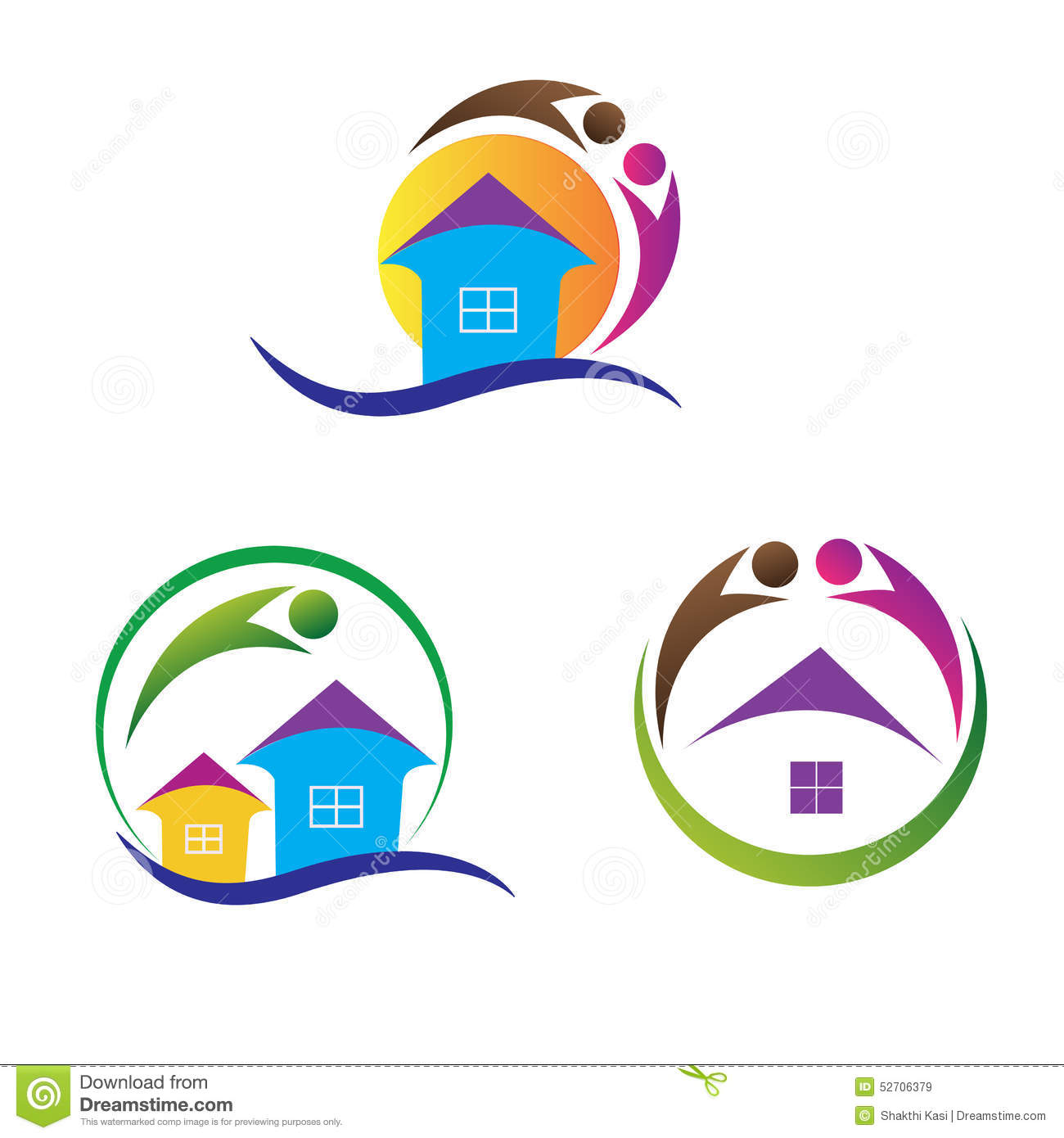 Home logos stock vector image of company architecture for Household design logo