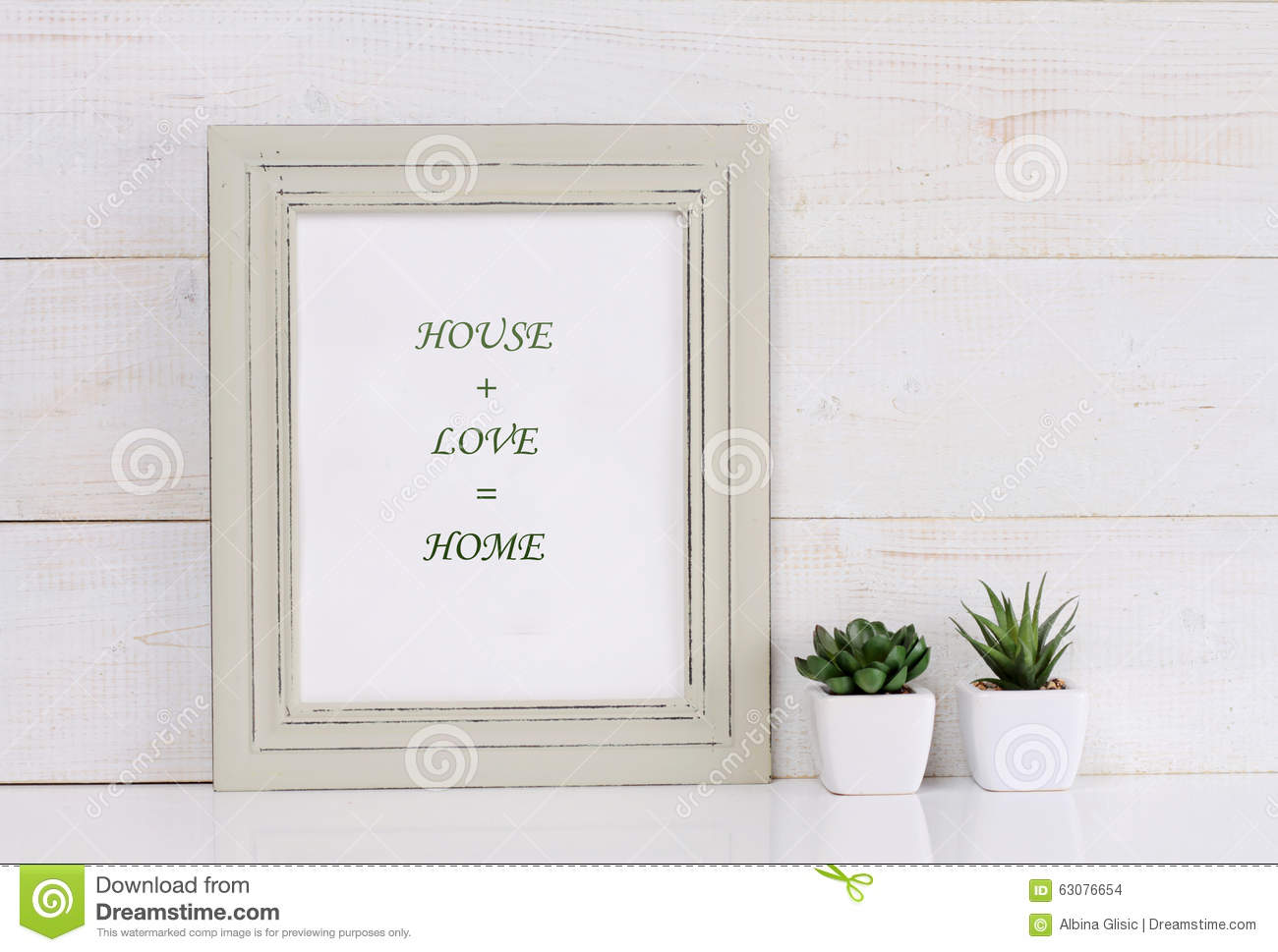 Home love family and happiness concept poster in frame - Telas shabby chic ...