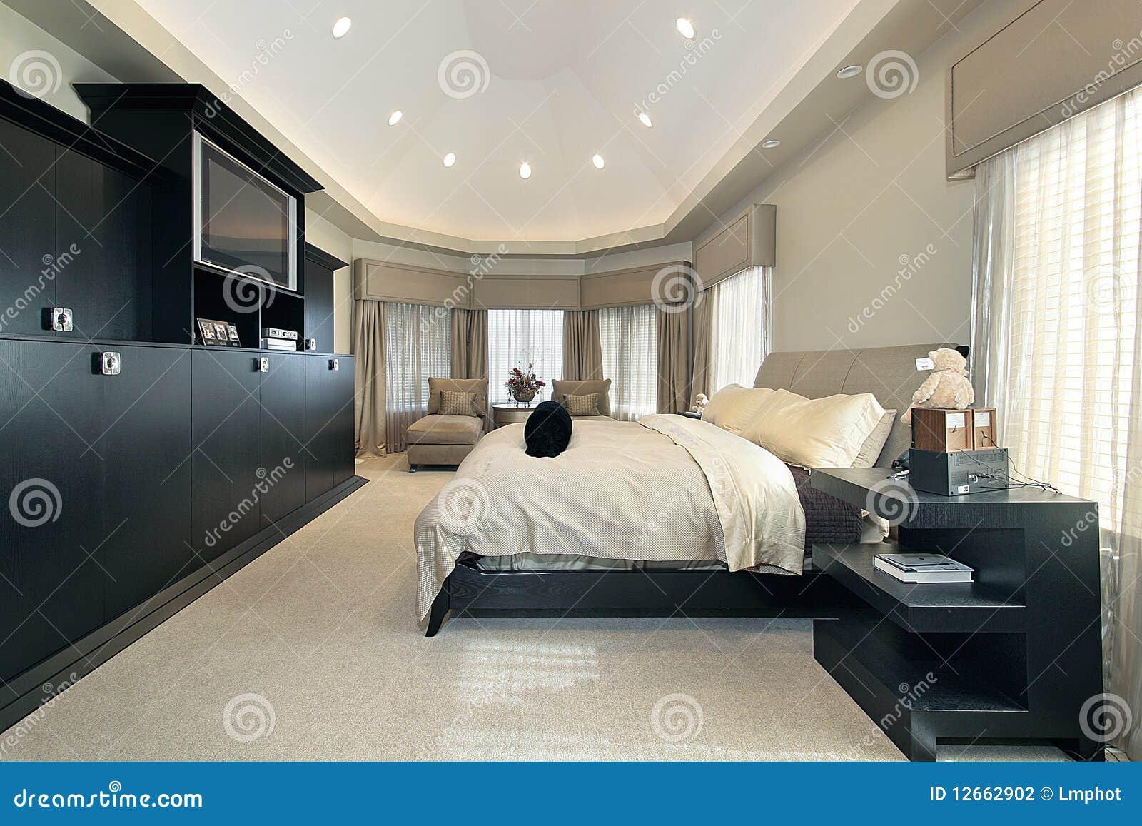 Home Lyxig Förlage För Sovrum Arkivbild - Bild: 12662902