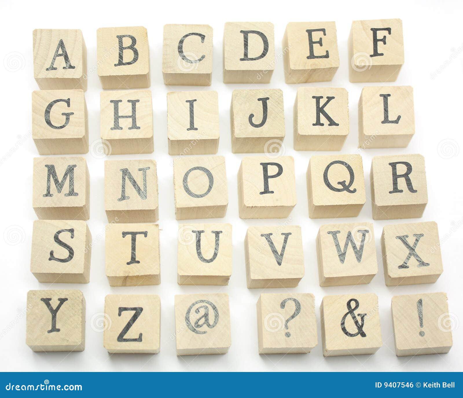 Home Made Blocks Alphabet