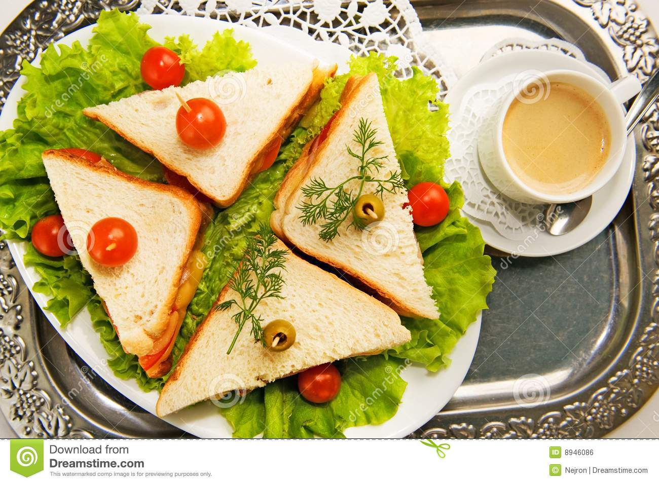 Home made canape sandwiches royalty free stock image for Canape wraps