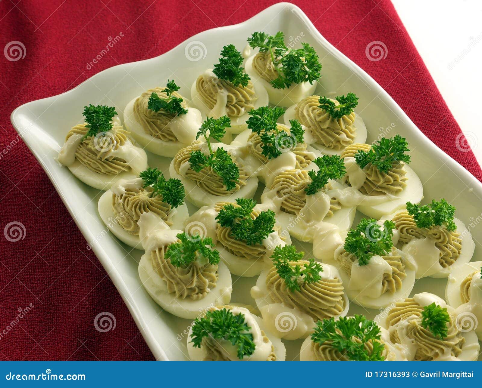 Home made devilled egg salad stock image image 17316393 for Decoration salade