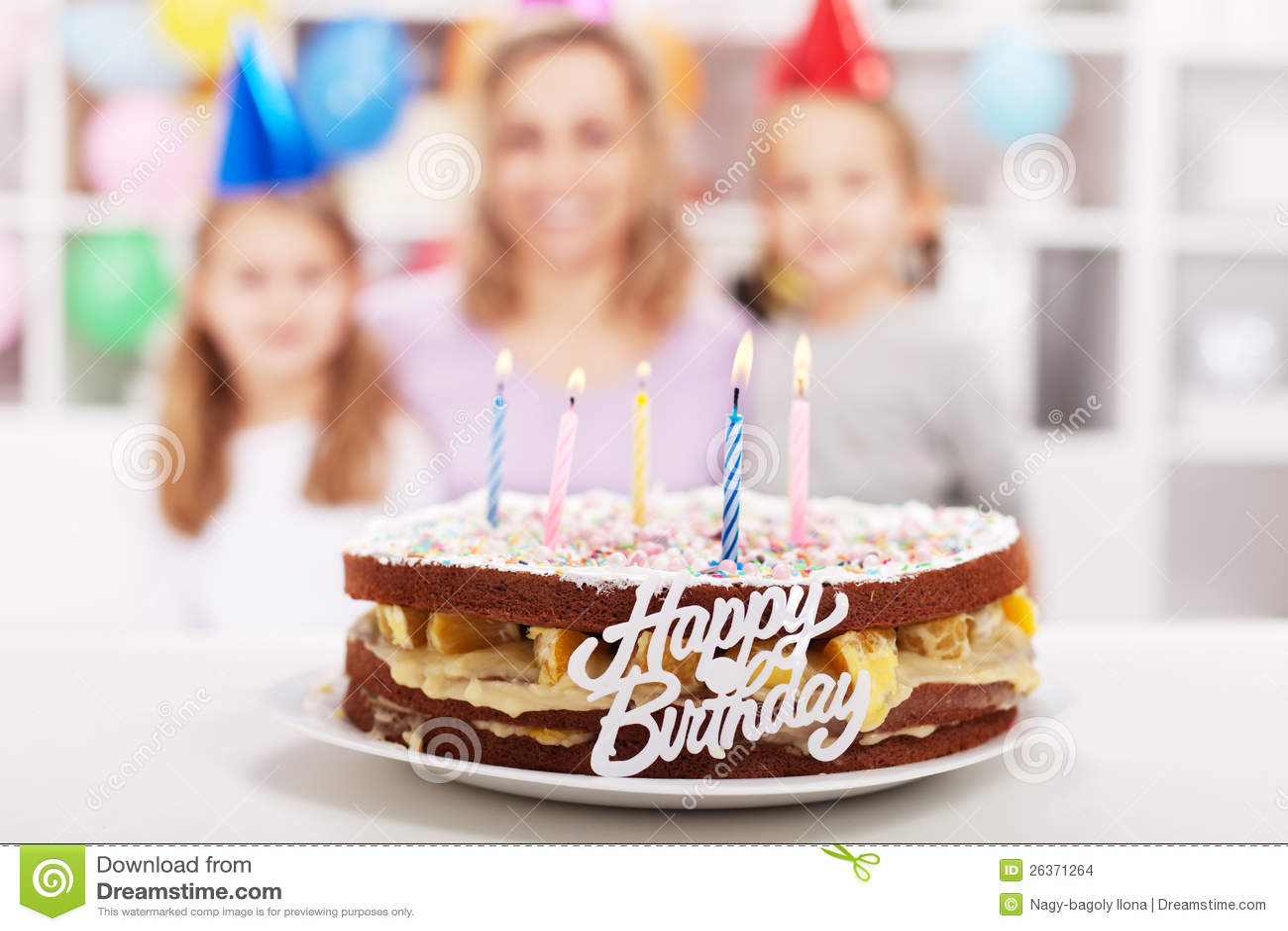 Home made happy birthday cake