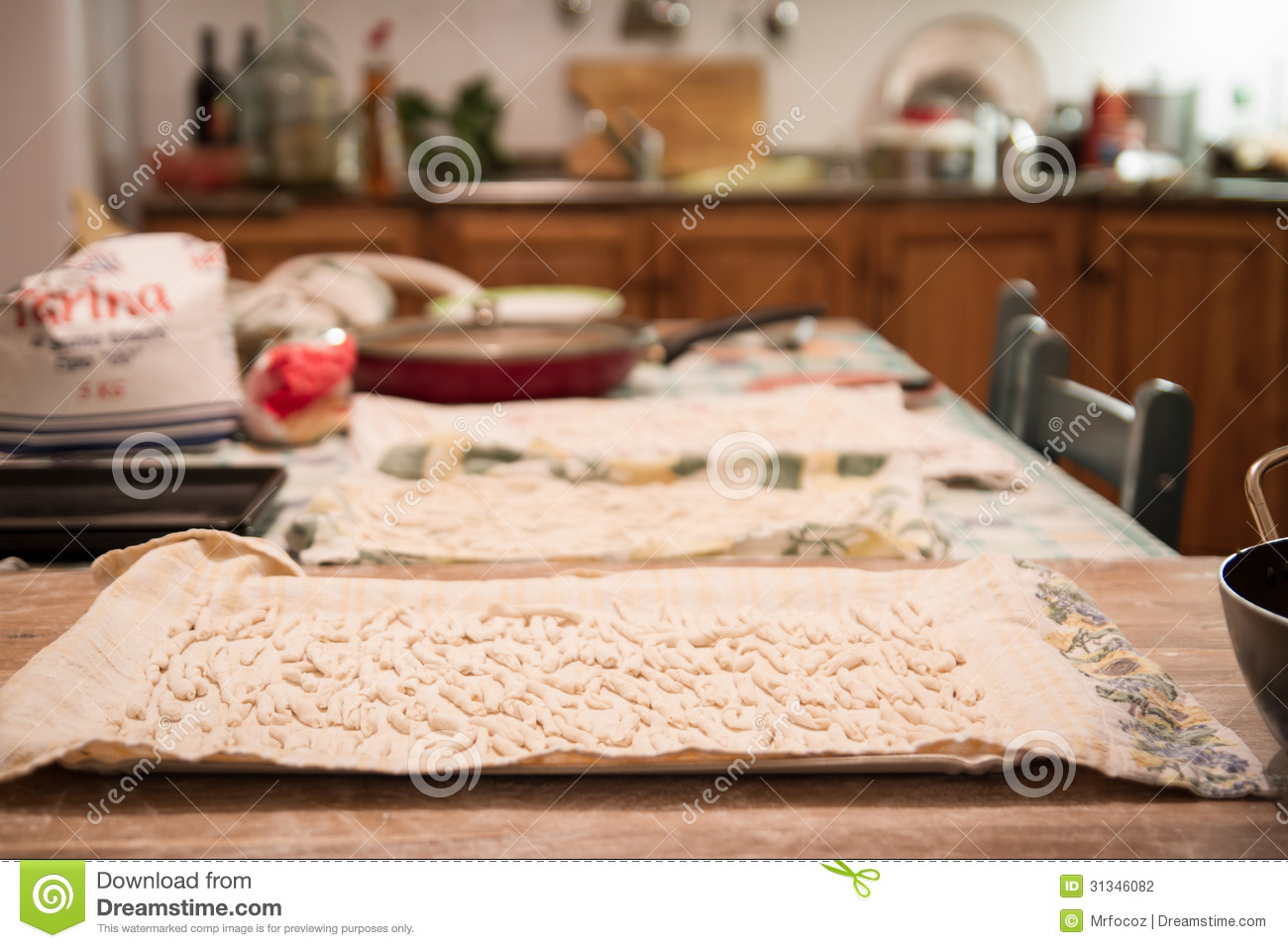 Home Made Pasta In Italian Kitchen Stock Photography Image 31346082