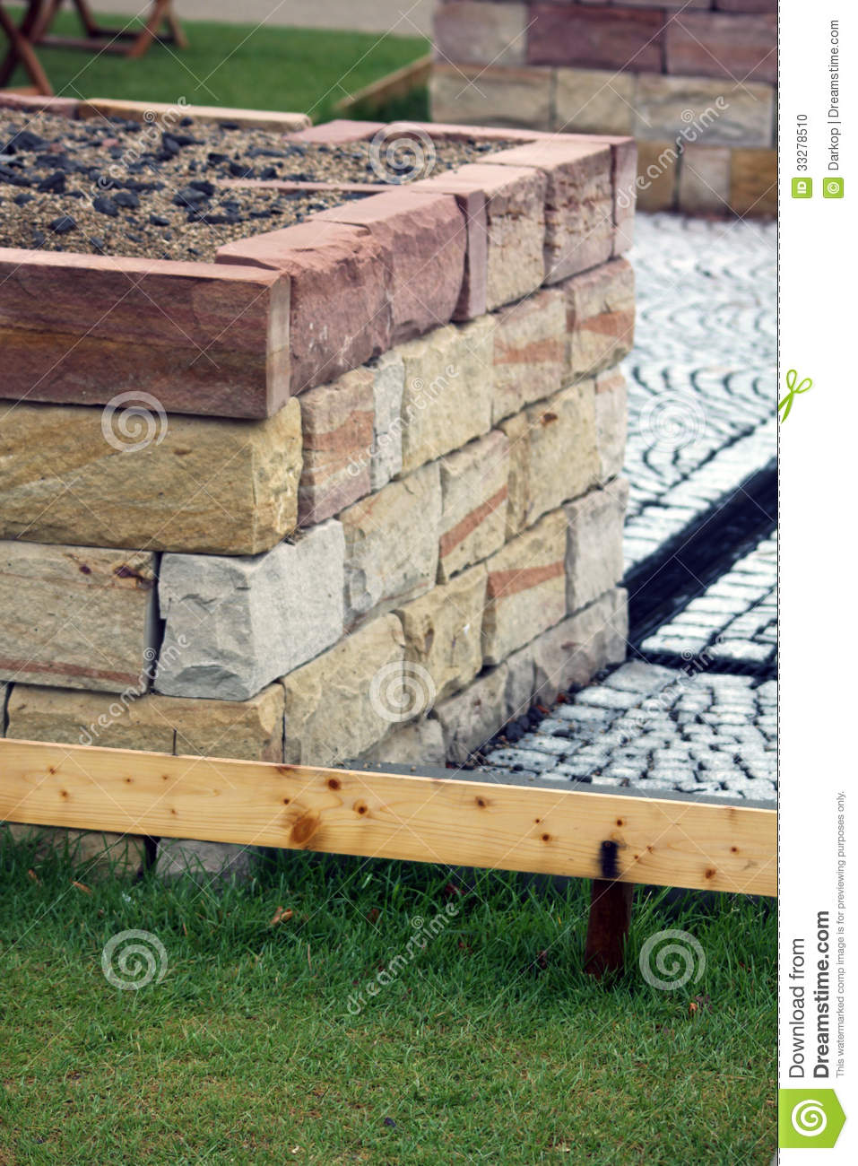 Home Made Raised Garden Bed Stock Photo Image 33278510
