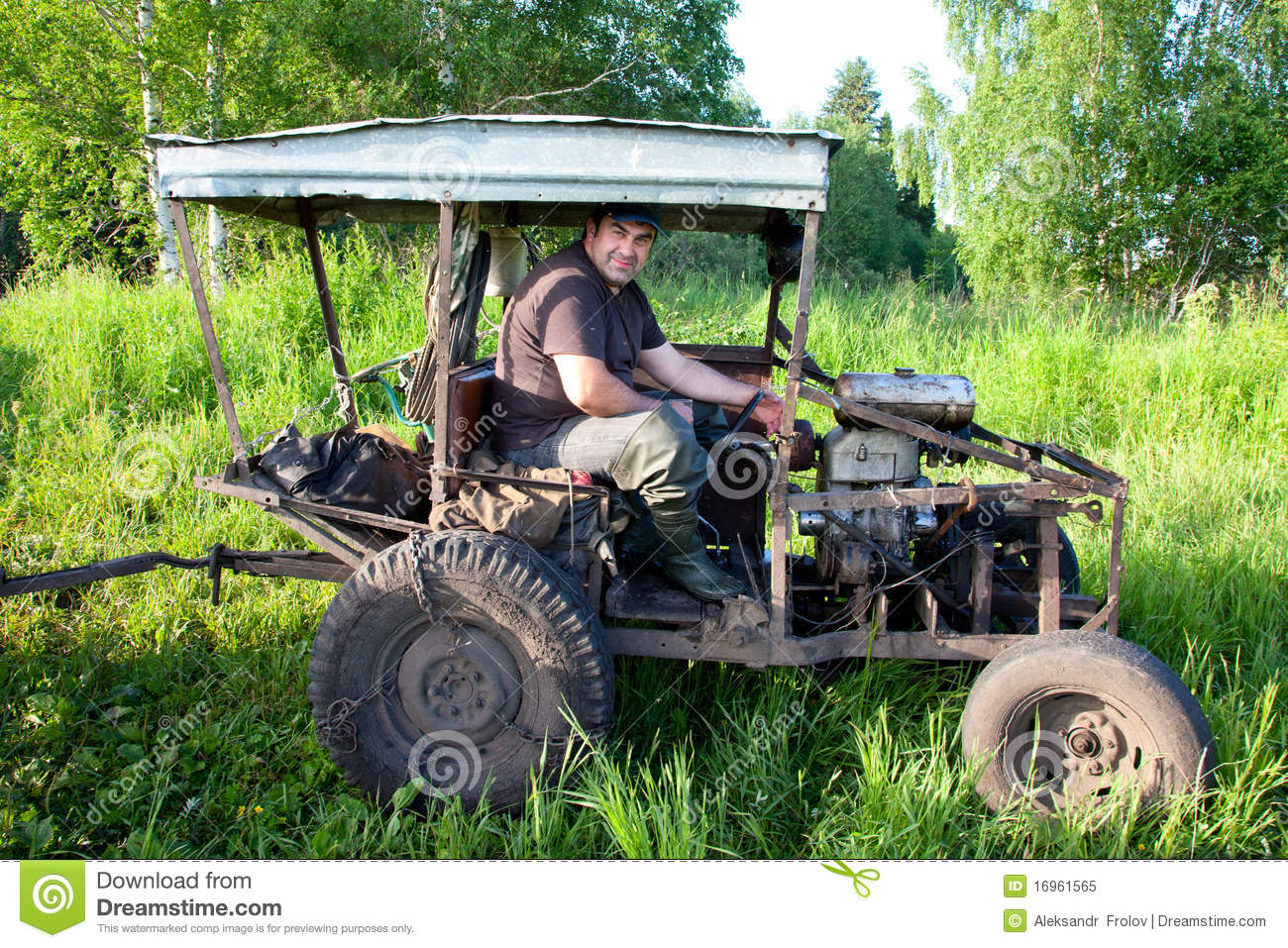 Home Built Tractor Attachments : Home made tractor stock image of agricultural
