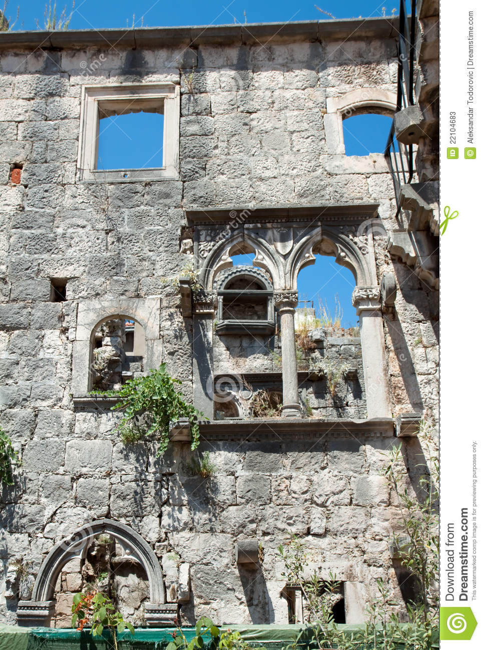 home of marco polo on the island of korcula stock image. Black Bedroom Furniture Sets. Home Design Ideas