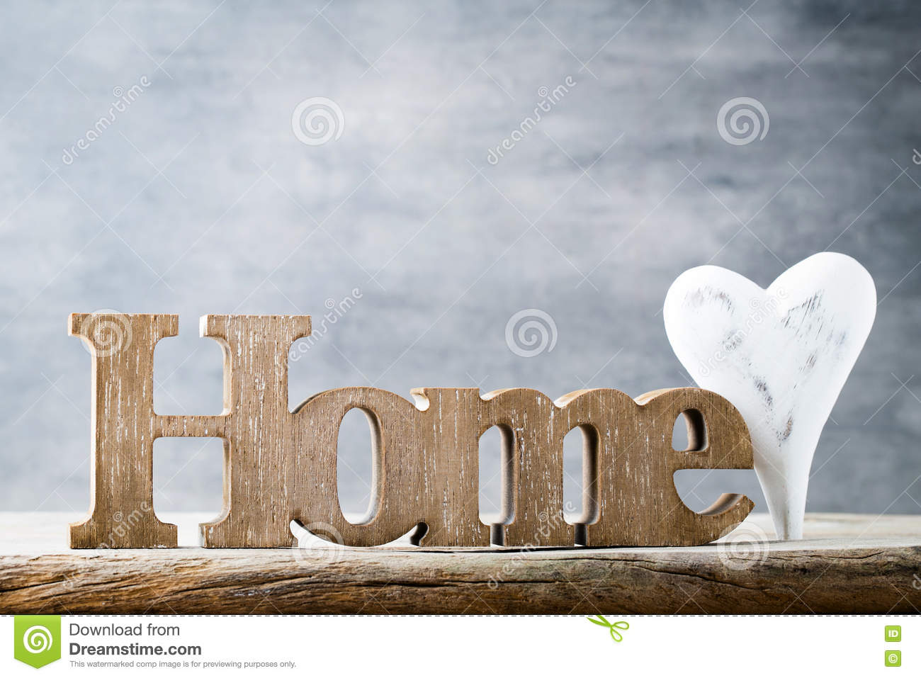 home message of home with wooden letters stock photo image of