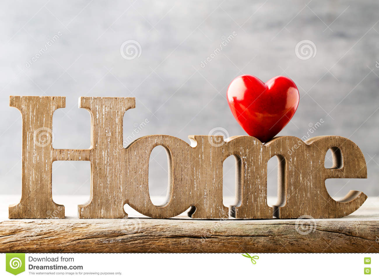 Home Message Of With Wooden Letters
