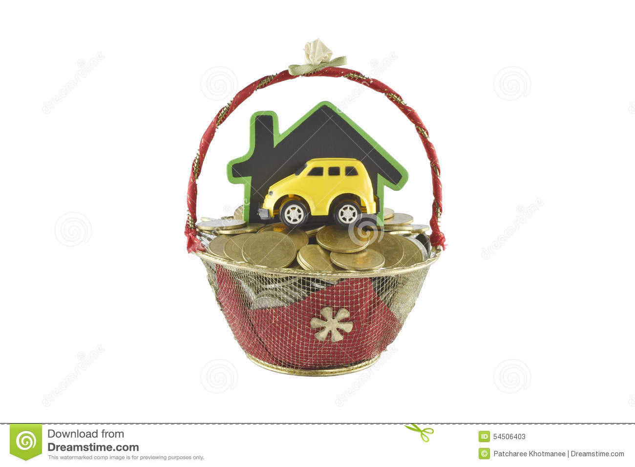 Home And Money Ideas For Saving On White Background Stock Image ...