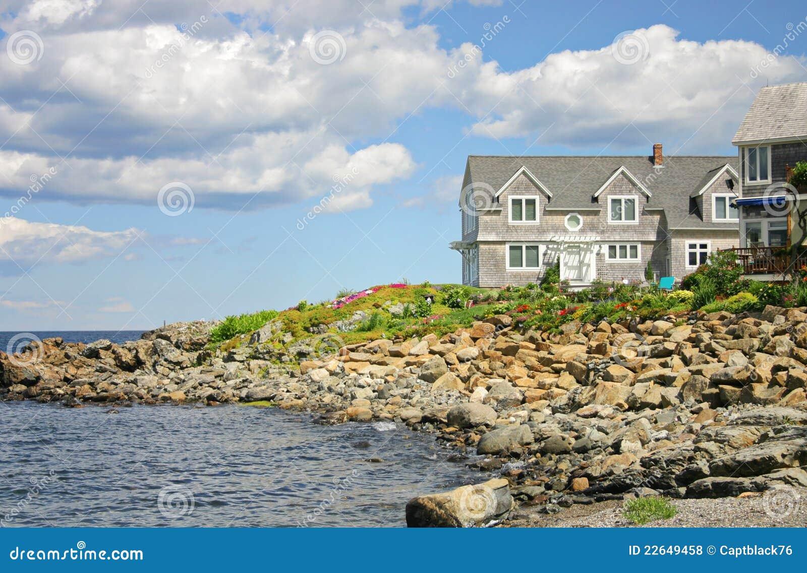 home near the sea royalty free stock photos image 22649458