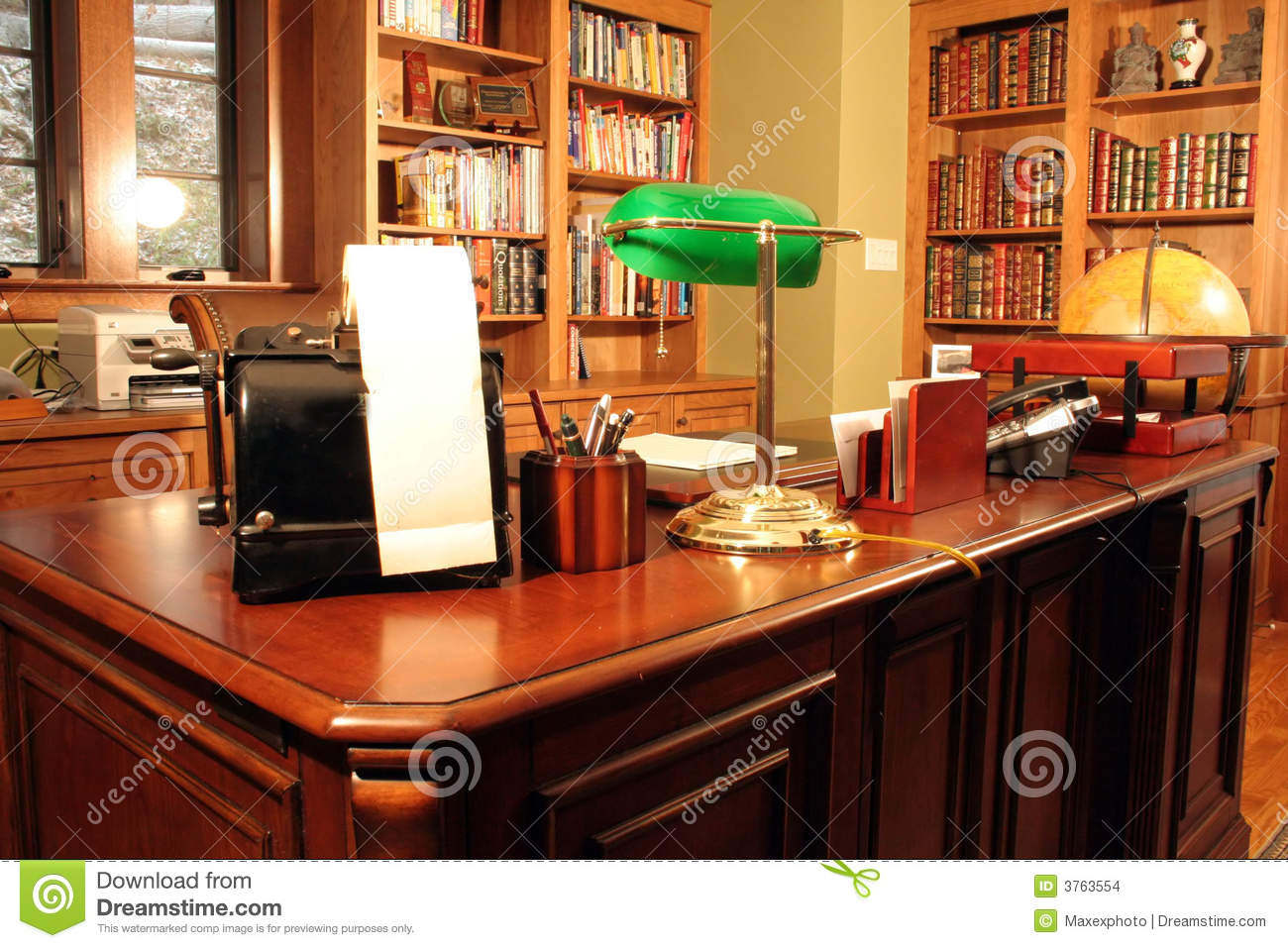 home office bookshelves. Home Office And Bookshelves Stock Photo - Image Of Study, Office: 3763554 S