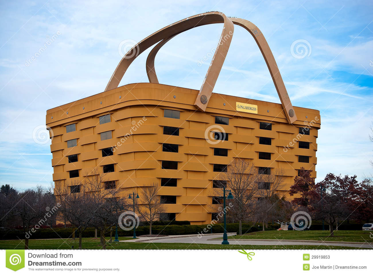 Handmade Baskets From Ohio : Basket shaped longaberger company home office editorial