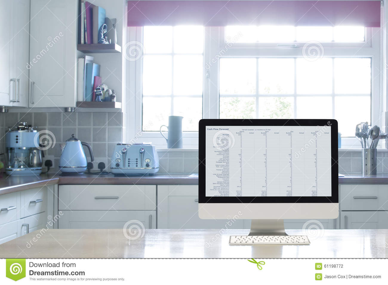 Home office interior set up stock photo image 61198772 for Kitchen setups interior