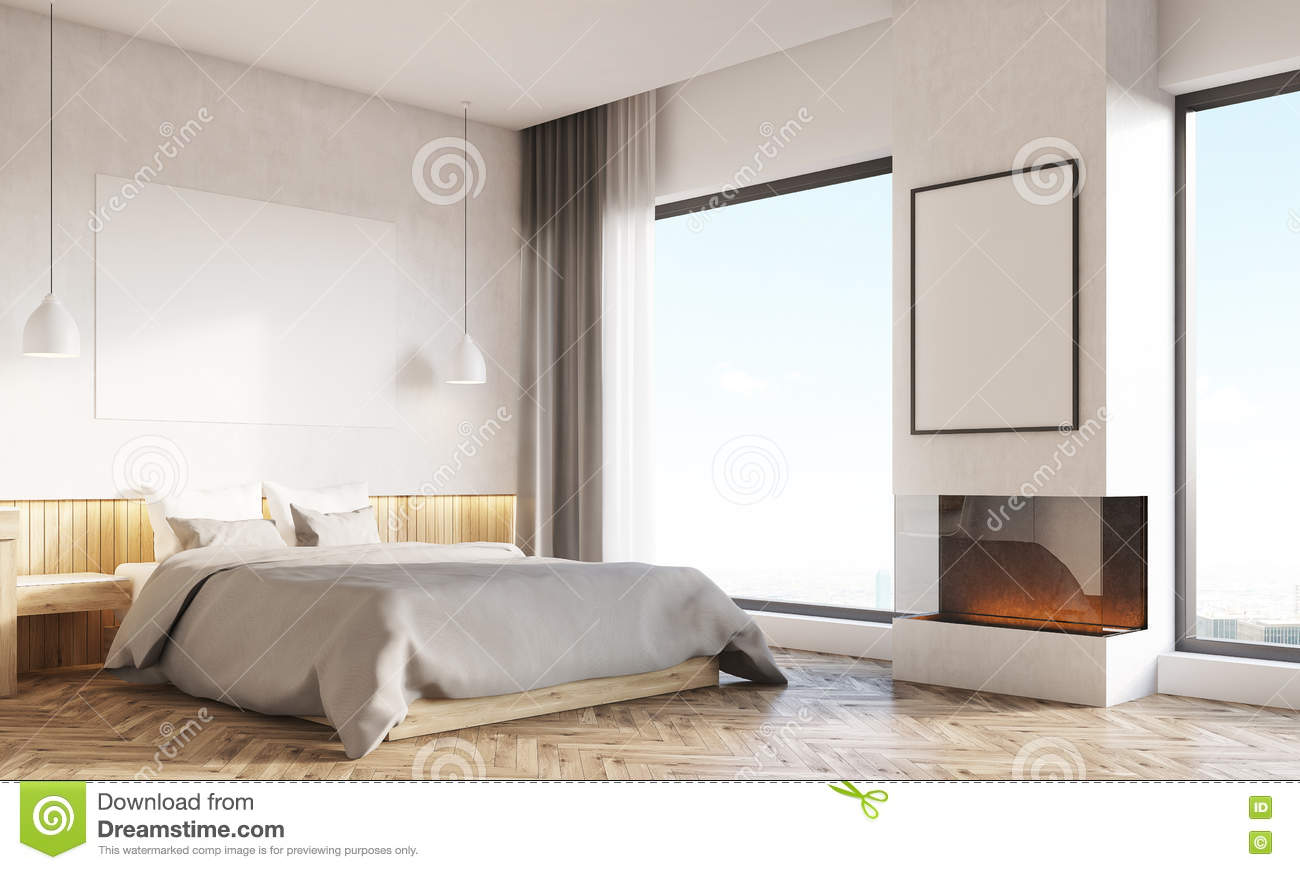 Home Office In Master Bedroom Home Office And Master Bedroom With Two Windows Stock Illustration