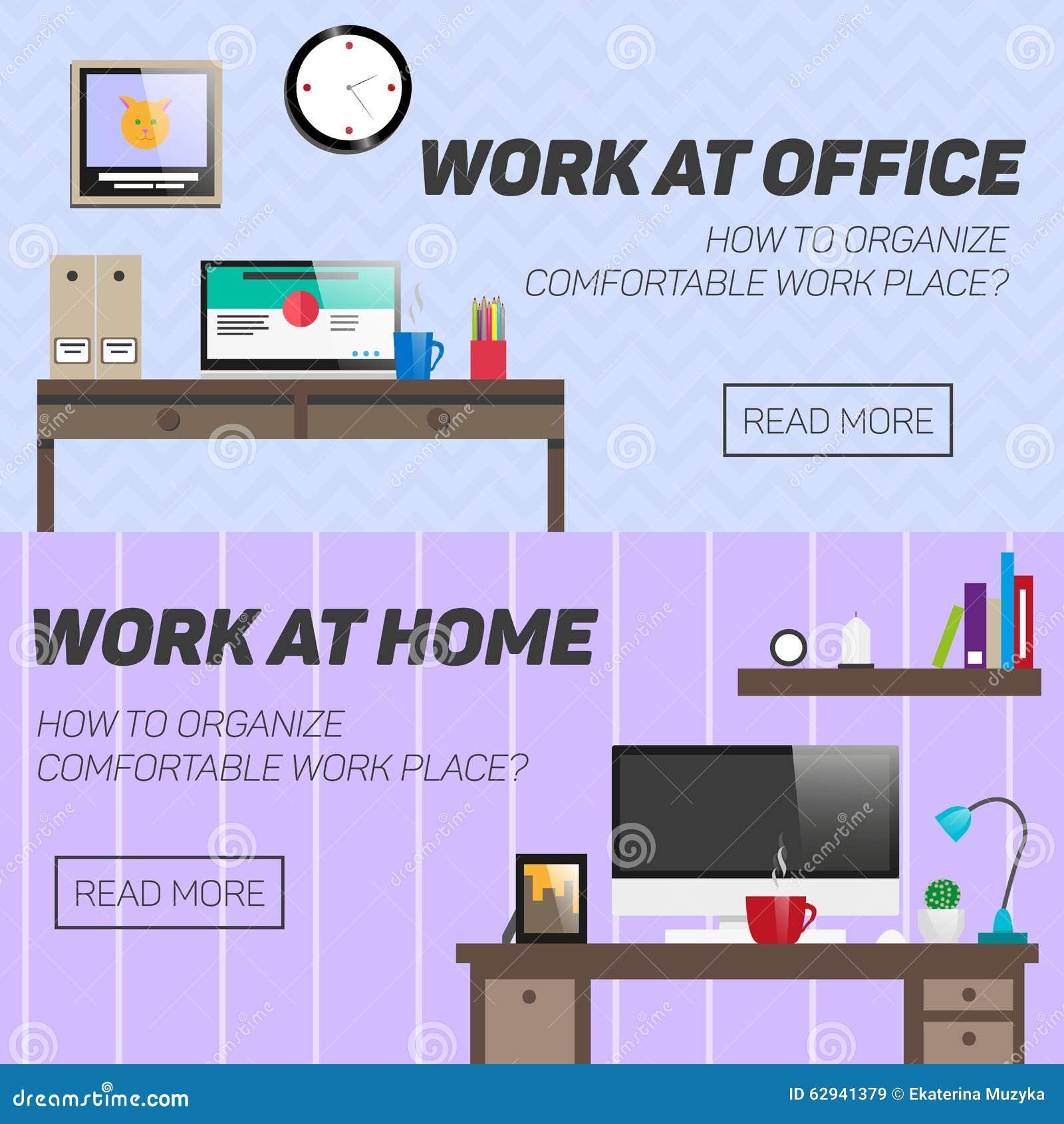 Place For Work At Home Stock Image Cartoondealer Com