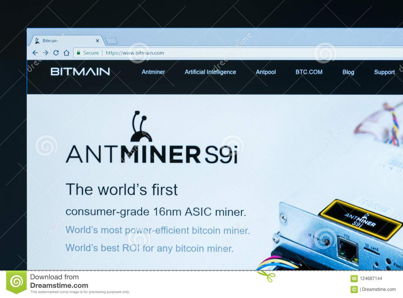 Home Page Of Bitmain Technologies Ltd  Editorial Stock Image - Image