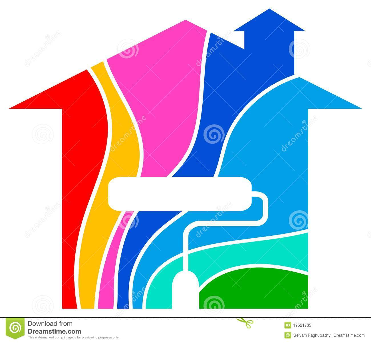 Home painting logo royalty free stock photo image 19521735 for Painting and decorating logo ideas
