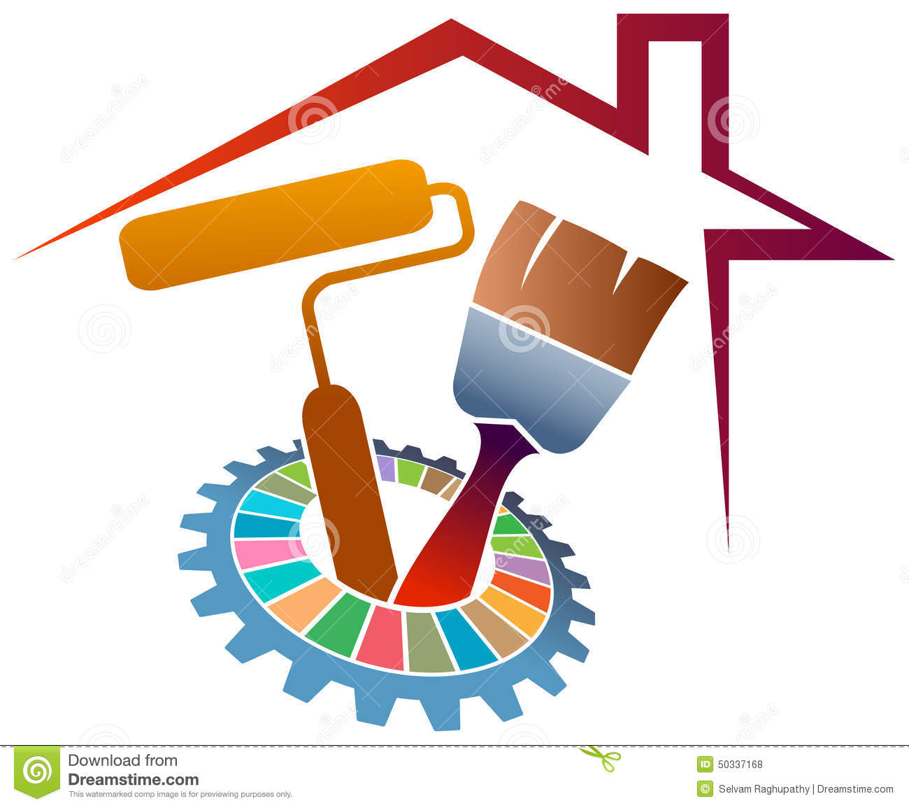 Home Painting Logo Stock Vector Image 50337168