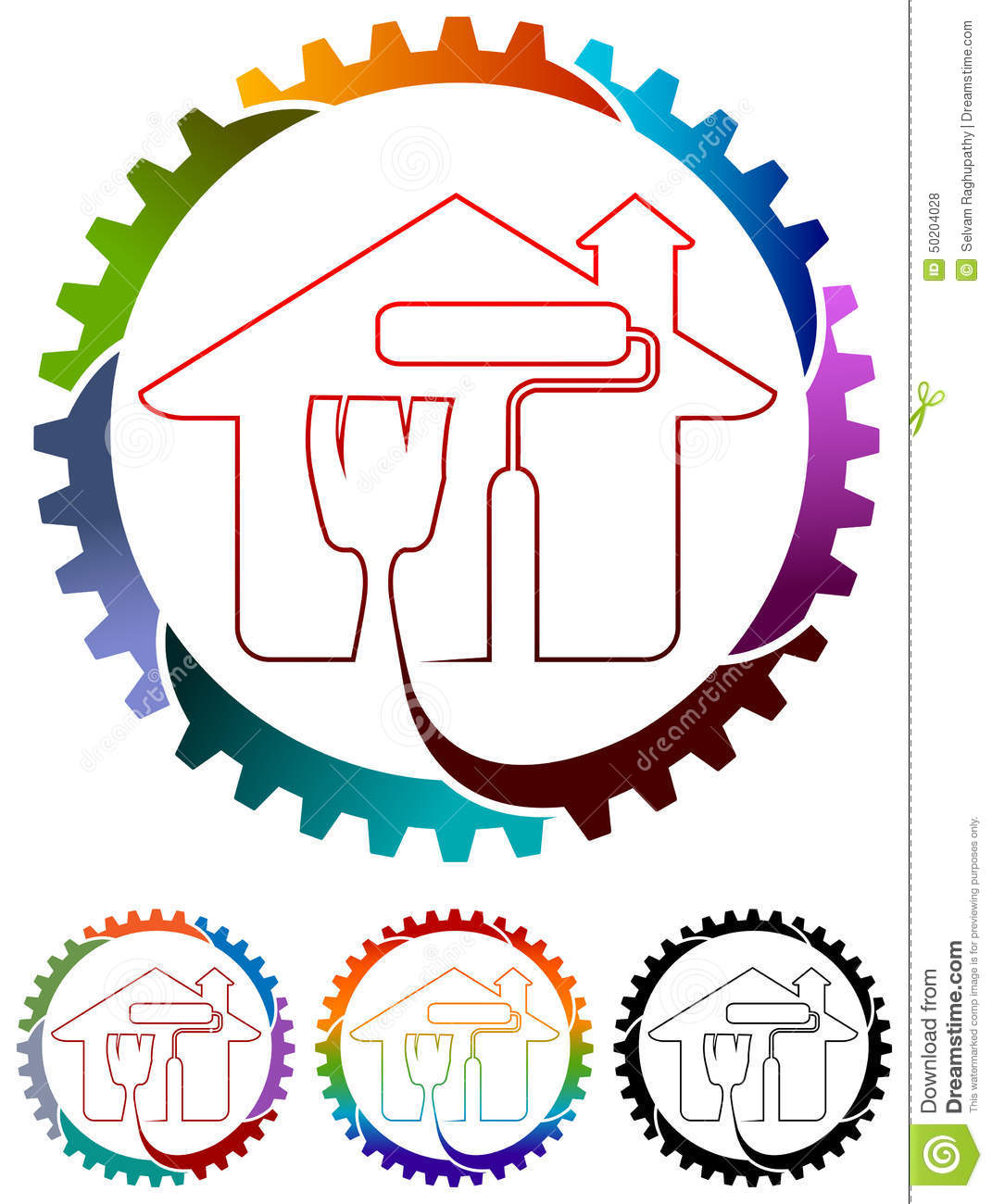 Home painting logo stock vector image 50204028 for Painting and decorating logo ideas