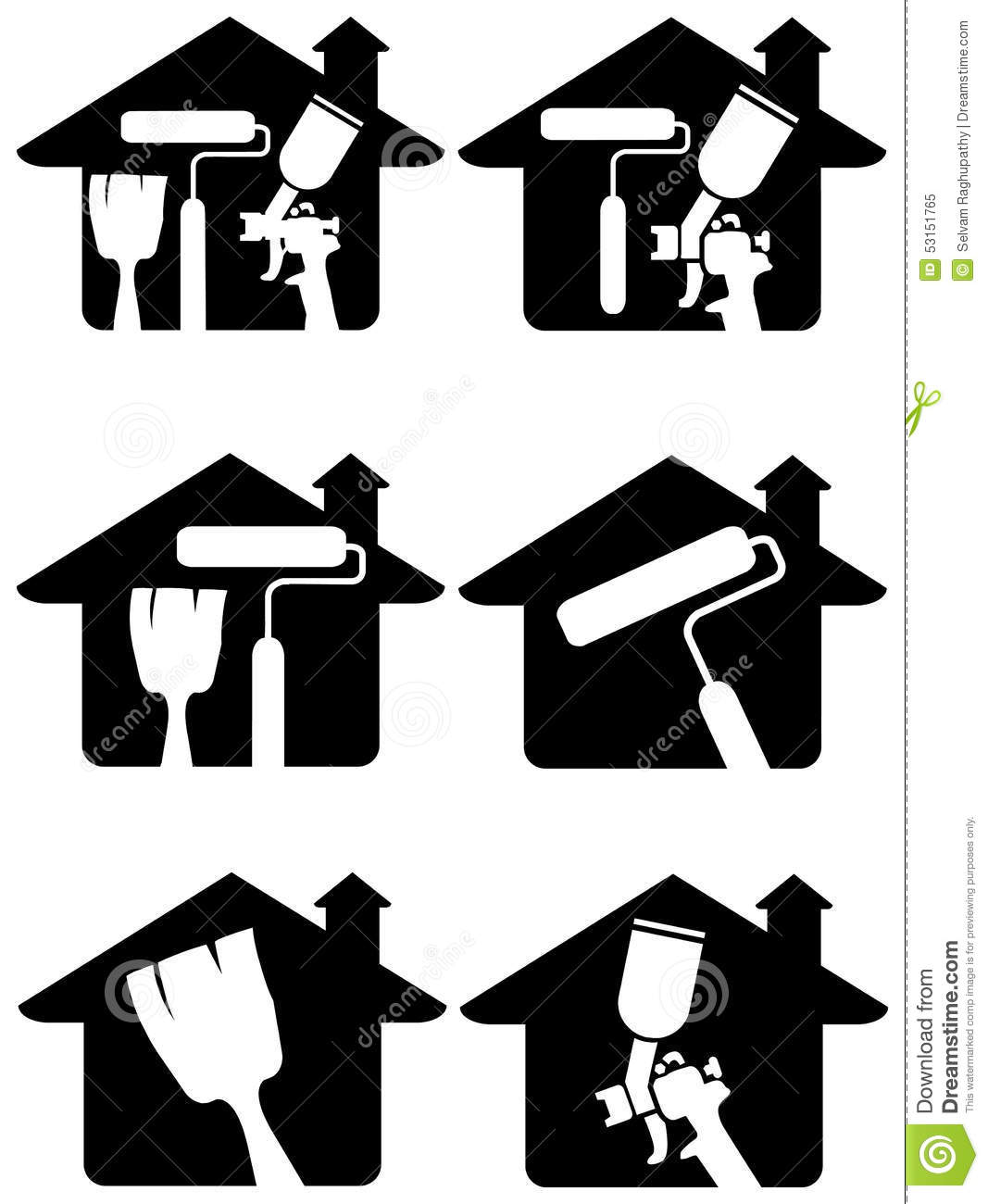 home painting logo set stock vector image 53151765