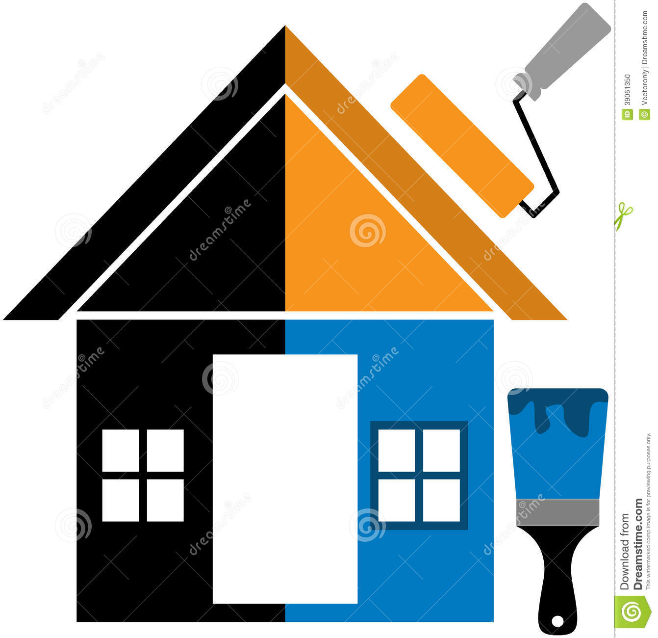 Home Painting home painting stock vector - image: 39061350