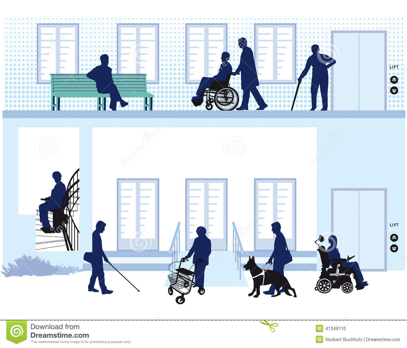 Home For People With Disability Stock Vector Image 41349110