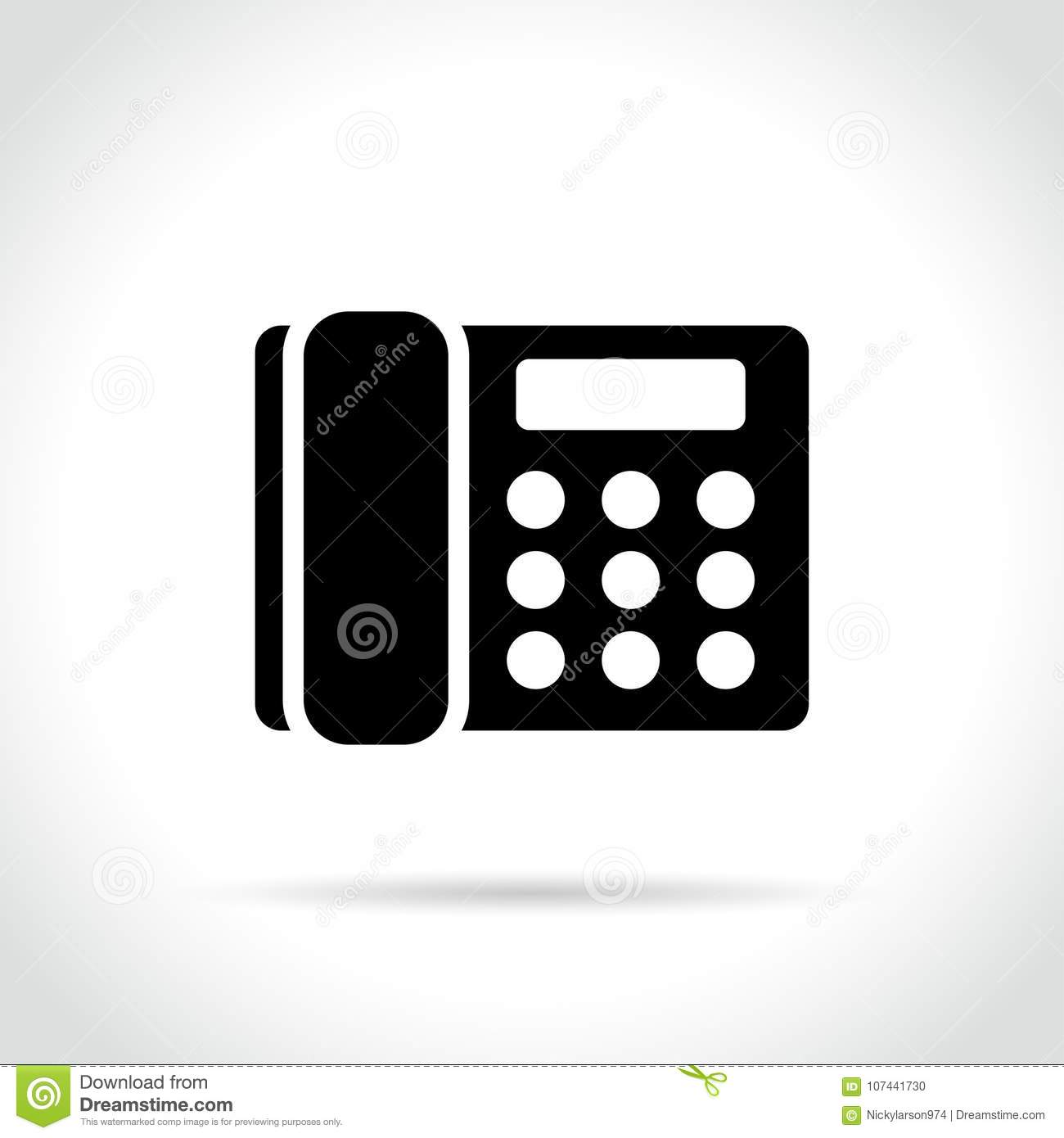 Home Phone Icon On White Background Stock Vector Illustration Of