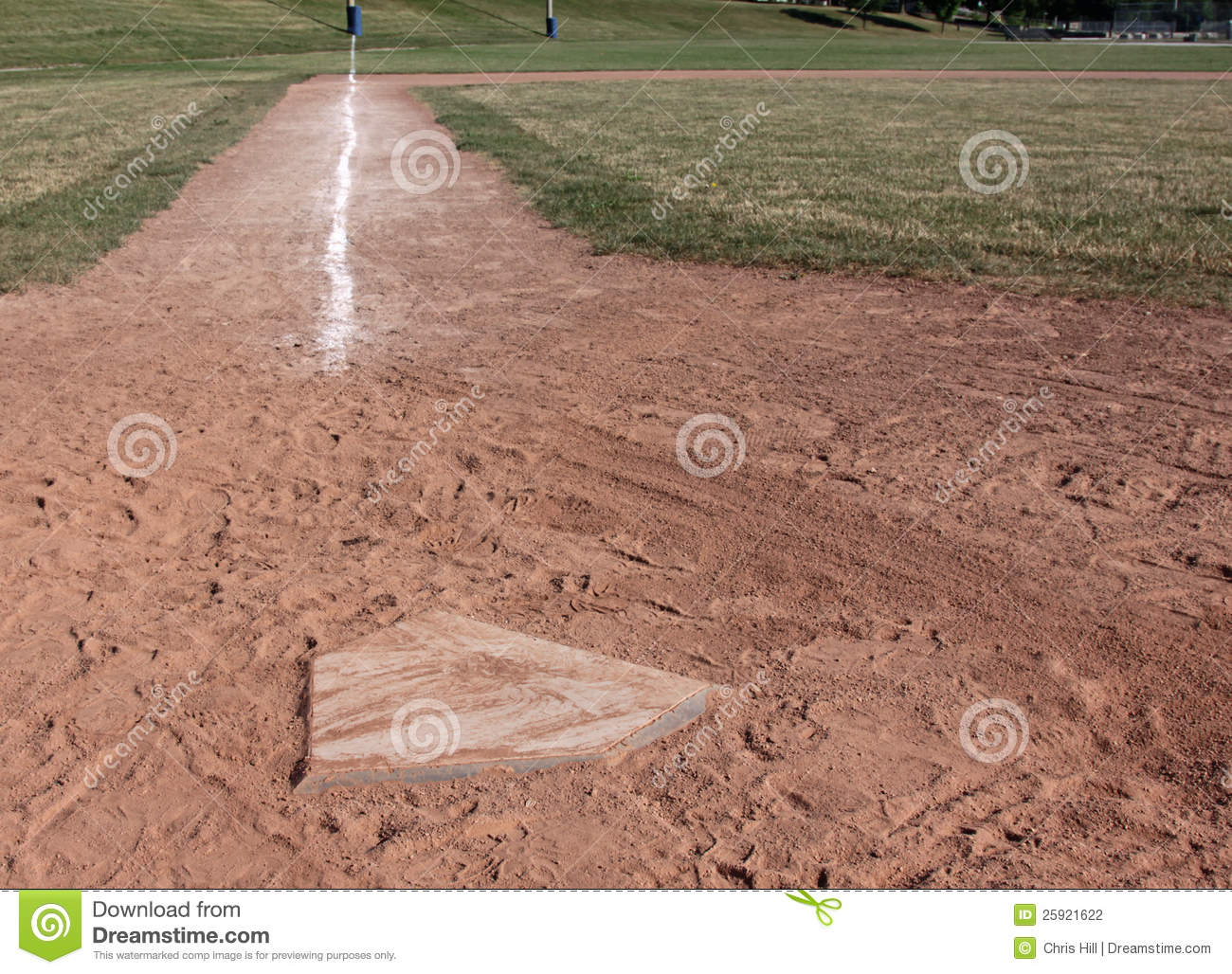 home plate left side stock photography image 25921622