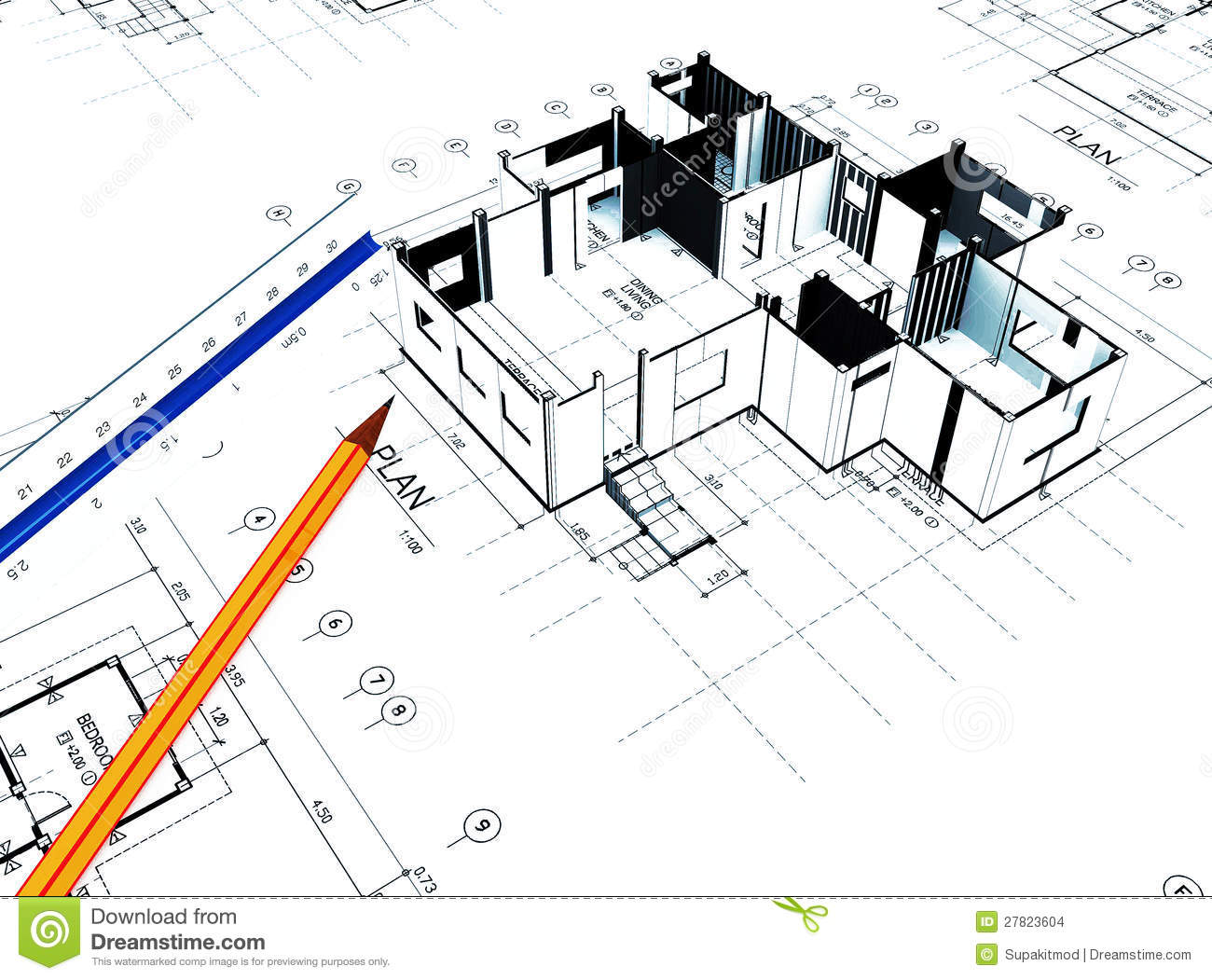 Home plot plan stock images image 27823604 for Plot plan for my house online