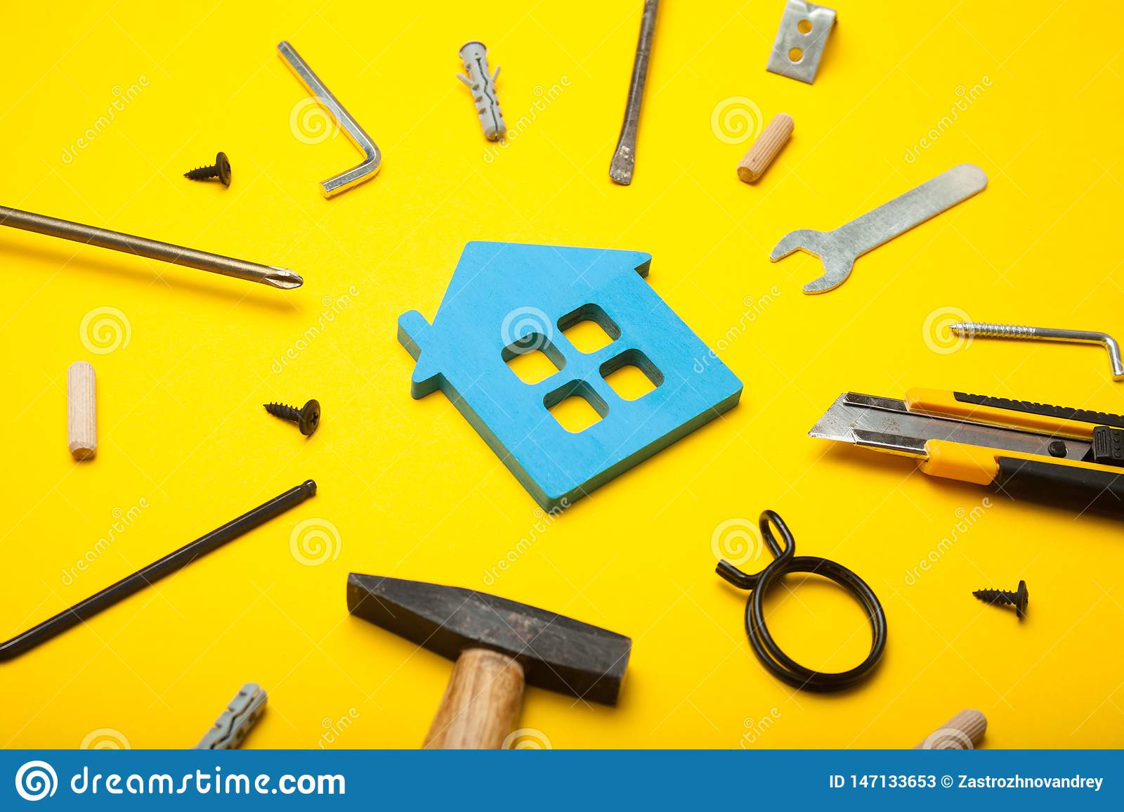 Home property repair, renovation success. Finance family household