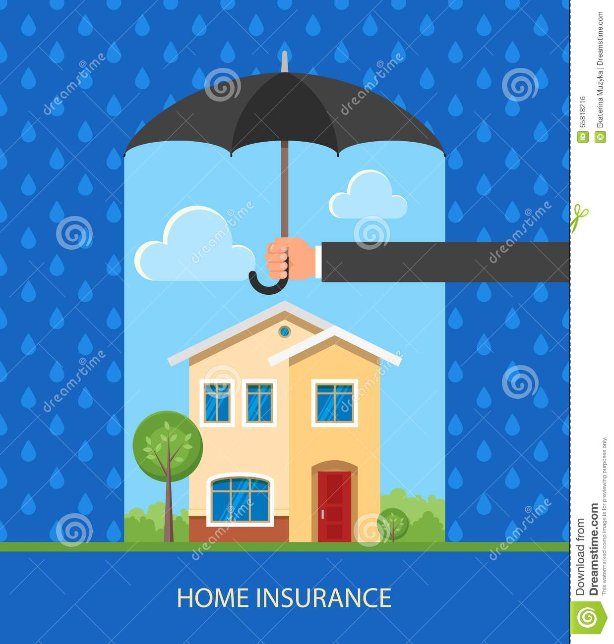 Home insurance concept design element vector for Home security plans