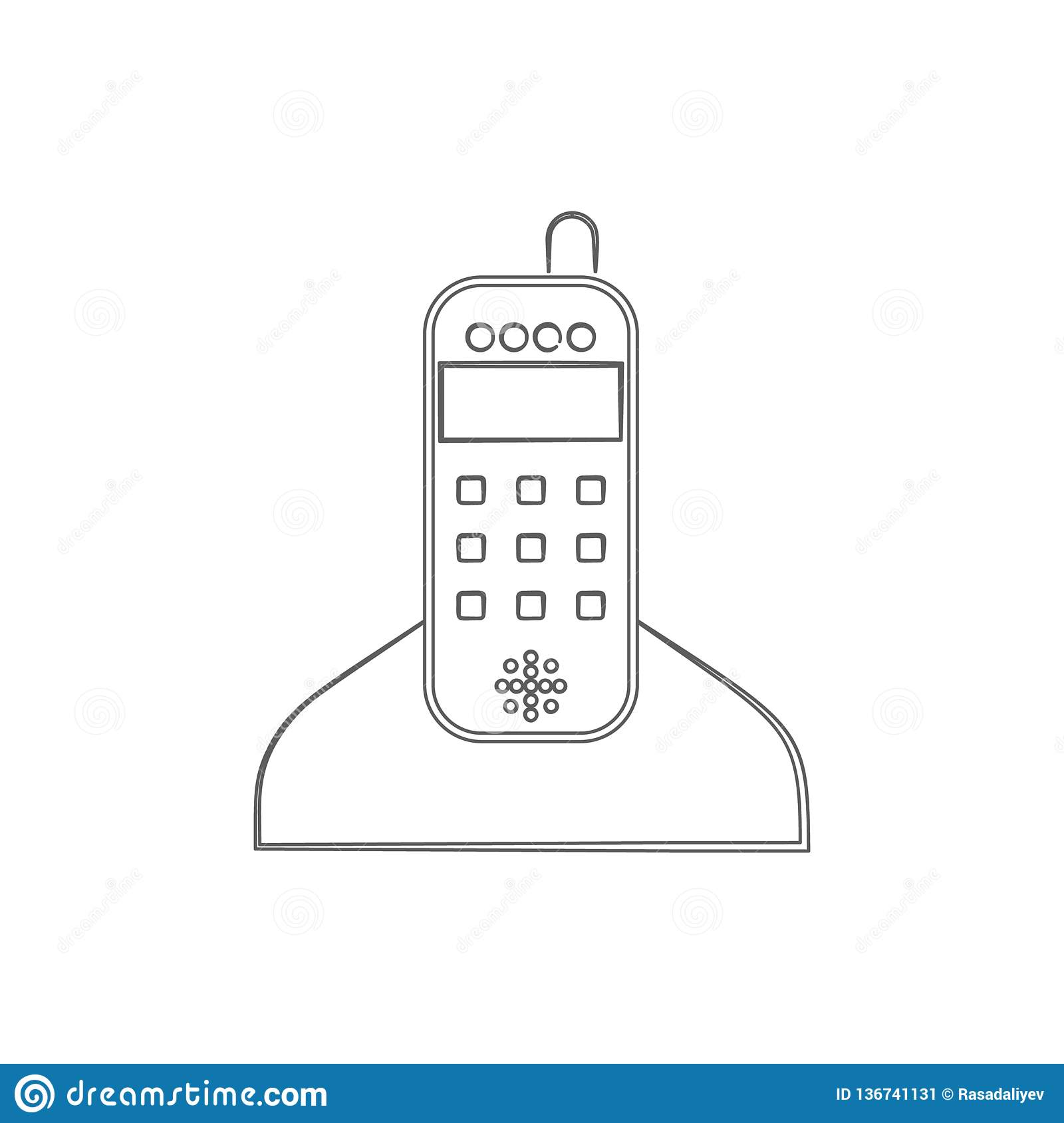 home radio phone logo icon. Element of cyber security for mobile concept and web apps icon. Thin line icon for website design and