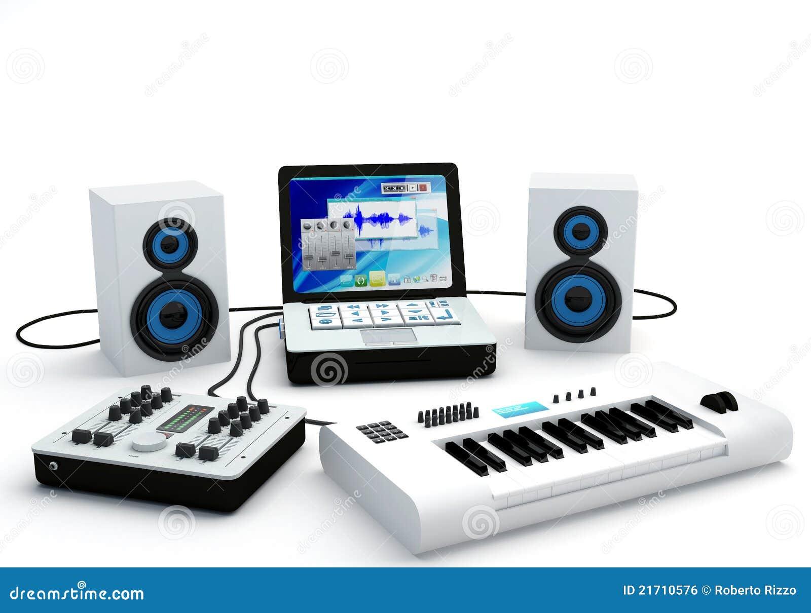 Home Recording Studio Equipment Royalty Free Stock Image