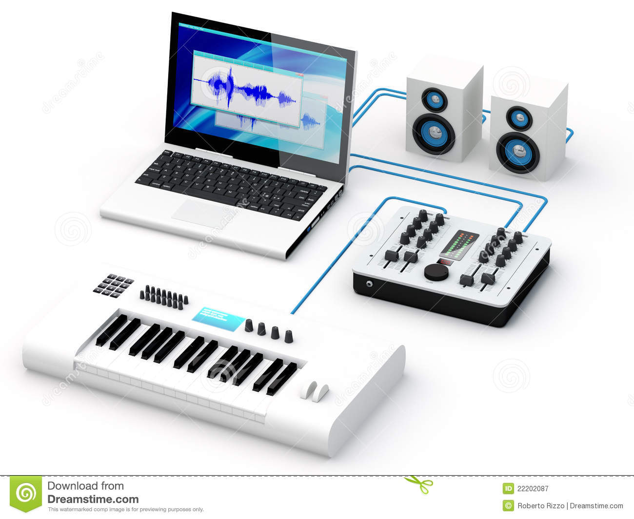 Home Recording Studio Equipment Royalty Free Stock