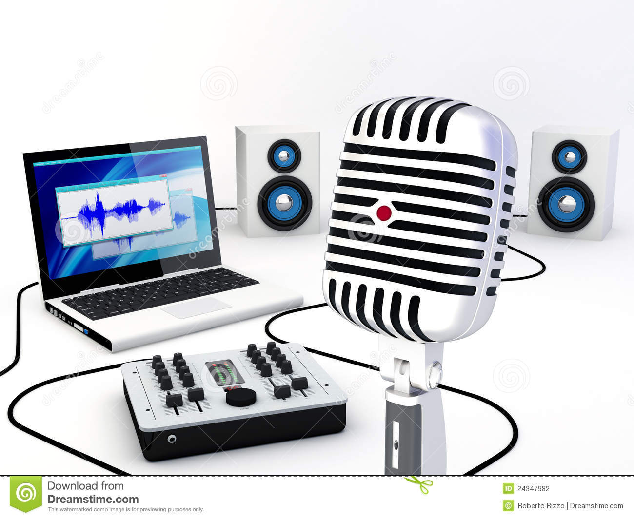 Remarkable Home Recording Studio Equipment Stock Photography Image 24347982 Largest Home Design Picture Inspirations Pitcheantrous