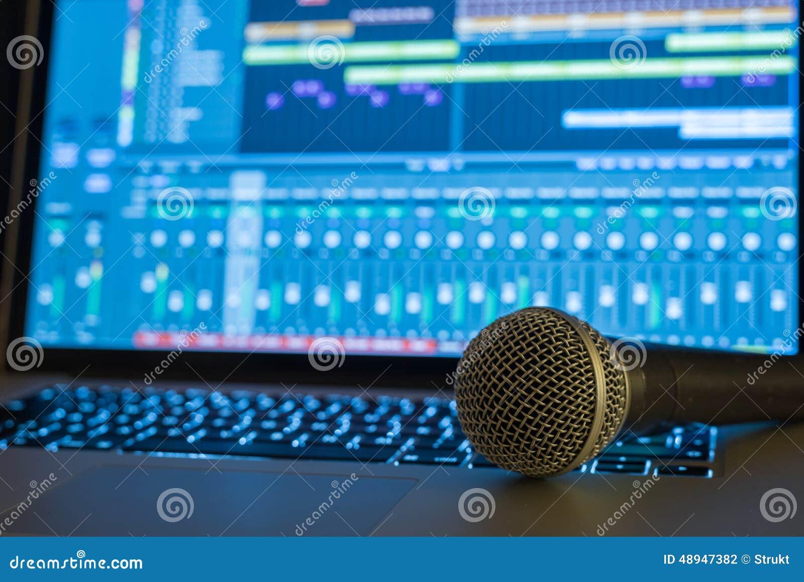 Home Recording Studio Stock Photo - Image: 48947382