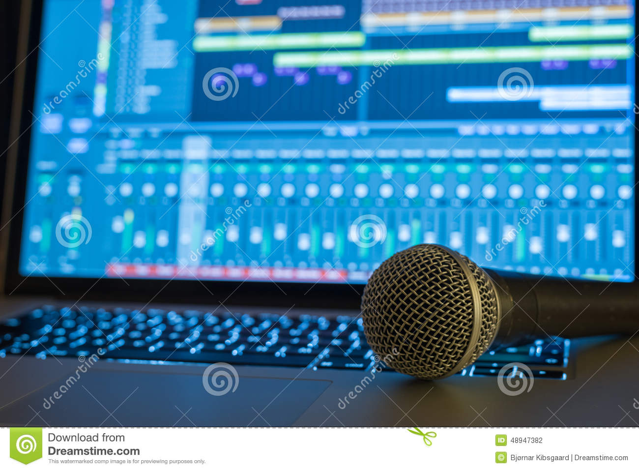 Fabulous Home Recording Studio Stock Photo Image 48947382 Largest Home Design Picture Inspirations Pitcheantrous
