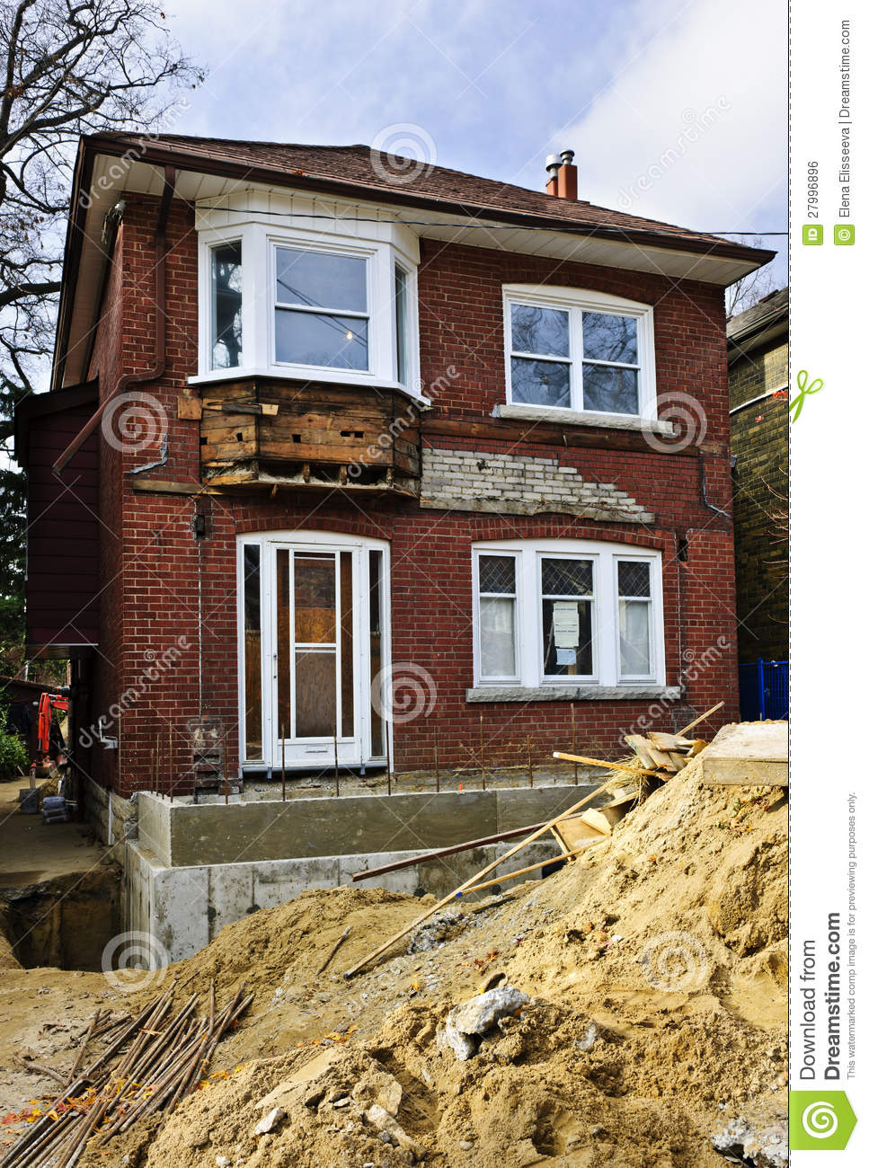 Home renovation exterior royalty free stock image image for External house renovation