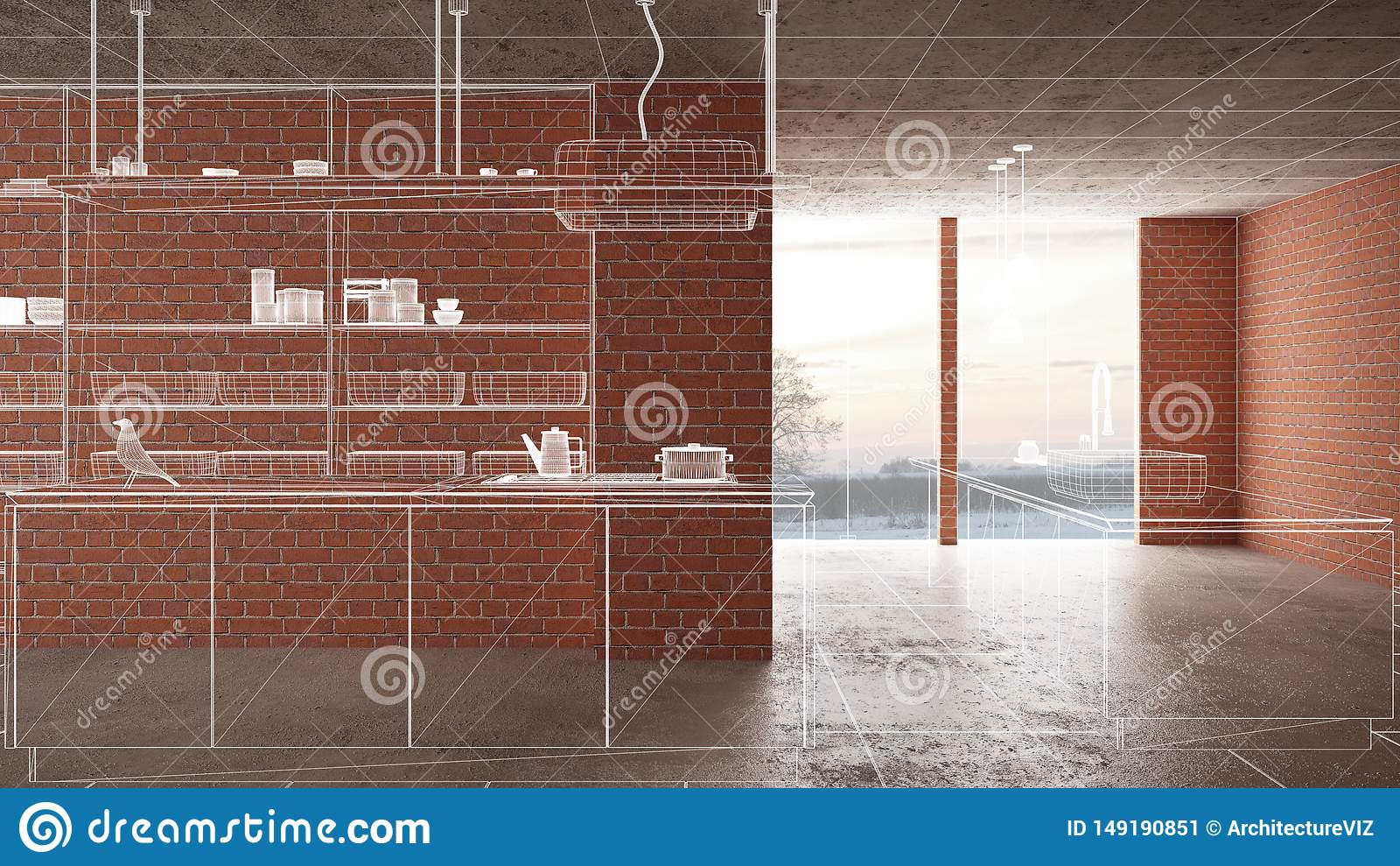 Home renovation, house development concept background, interior design under construction, custom architecture design project,